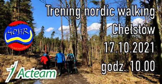 Trening Nordic Walking w Chełstowie.